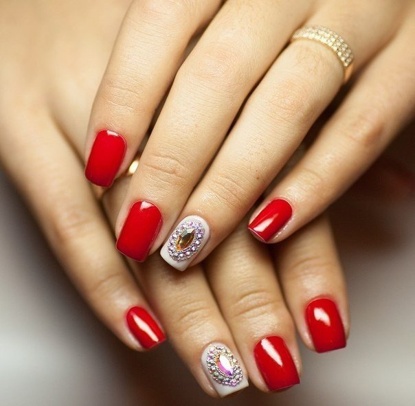 Дизайн ногтей фото современные идеи красные