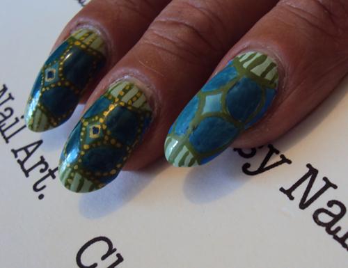 Модерн на ногтях